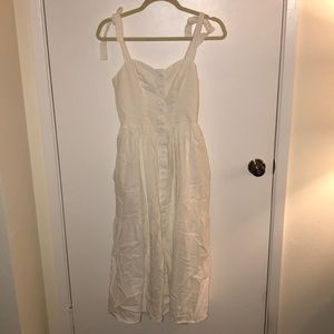 urban outfitters white button down dress